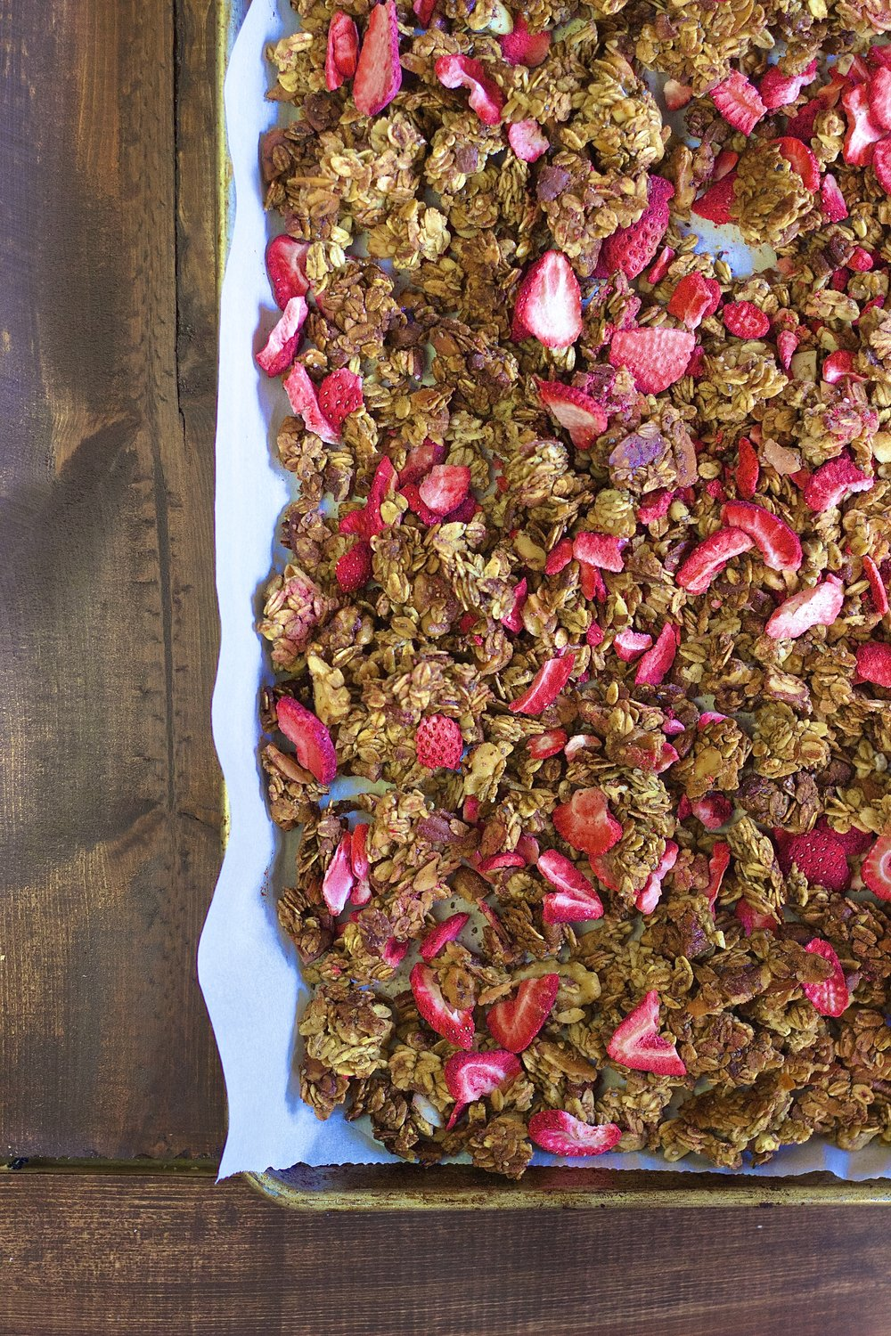 Strawberry Banana Granola | Kneading Home