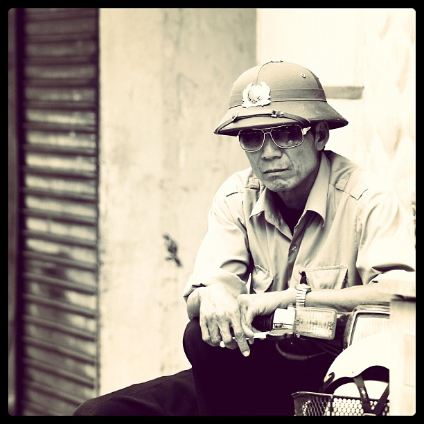 Policeman, Hanoi, Vietnam.  www.soperimages.com  #police #policeman #cop #vietnam #asia