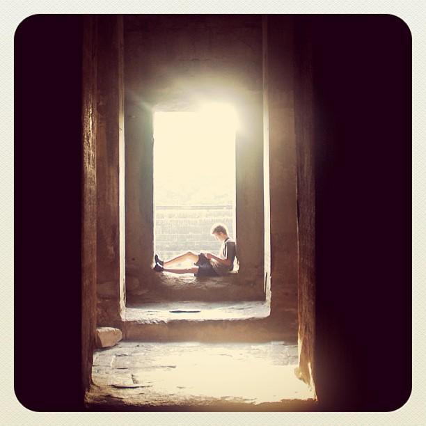 Angkor Wat, Cambodia. #Angkorwat, #Siamreap, #cambodia. #reading #tourist www.soperimages.com