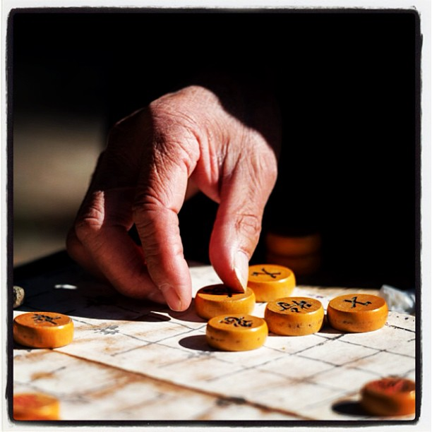 Old men playing majong, Temple if Heaven, Beijing. #majong #beijing #hand  www.soperimages.com