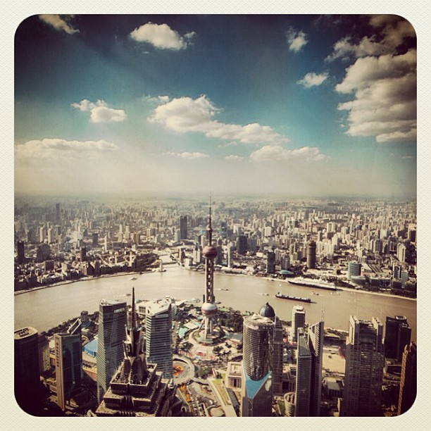 Shanghai from the world's highest observation deck. #shanghai #city #cityscape  www.soperimages.com