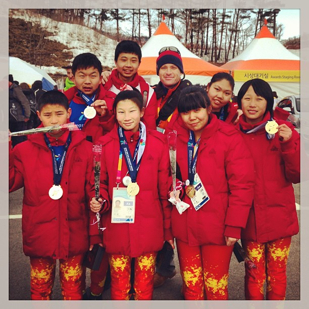 With #Chinese Cross Country Team @specialolympics World Winter Games, #korea2013