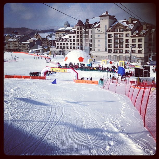 Beautiful day for the #Snowboarding competition @specialolympics World Winter Games, #korea2013