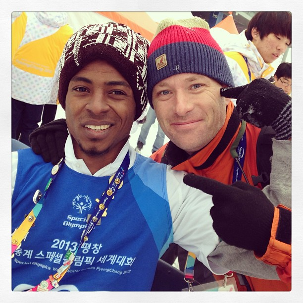 with a Saudi Arabian snowshoeing competitor @specialolympics World Winter Games, #korea2013