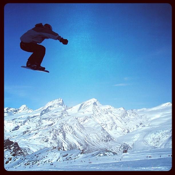 Griff, Snowboarding, Zermatt, Switzerland, 2006.