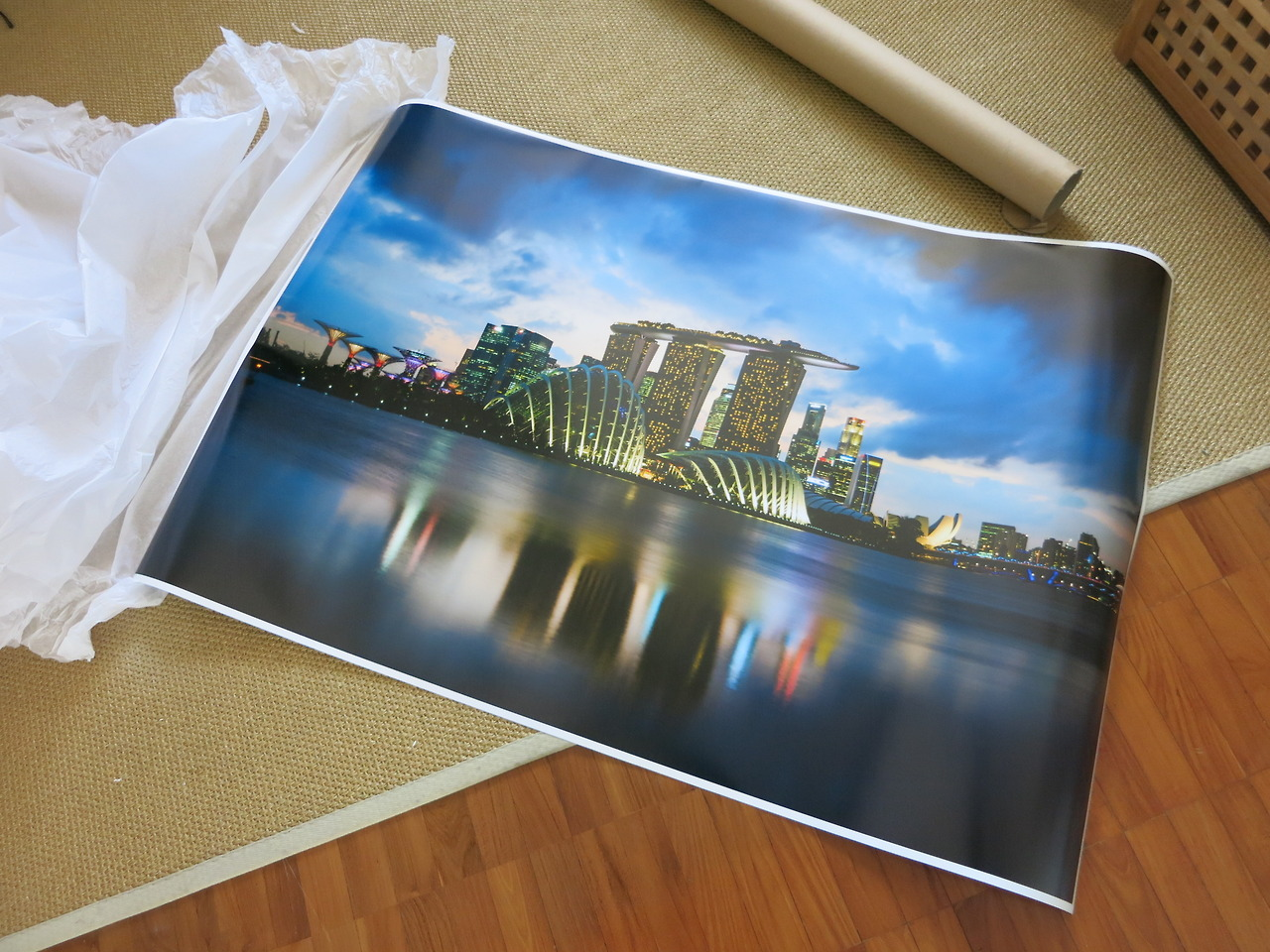 very pleased with this 80x120cm print for  client who is leaving Singapore. It'll look amazing framed.