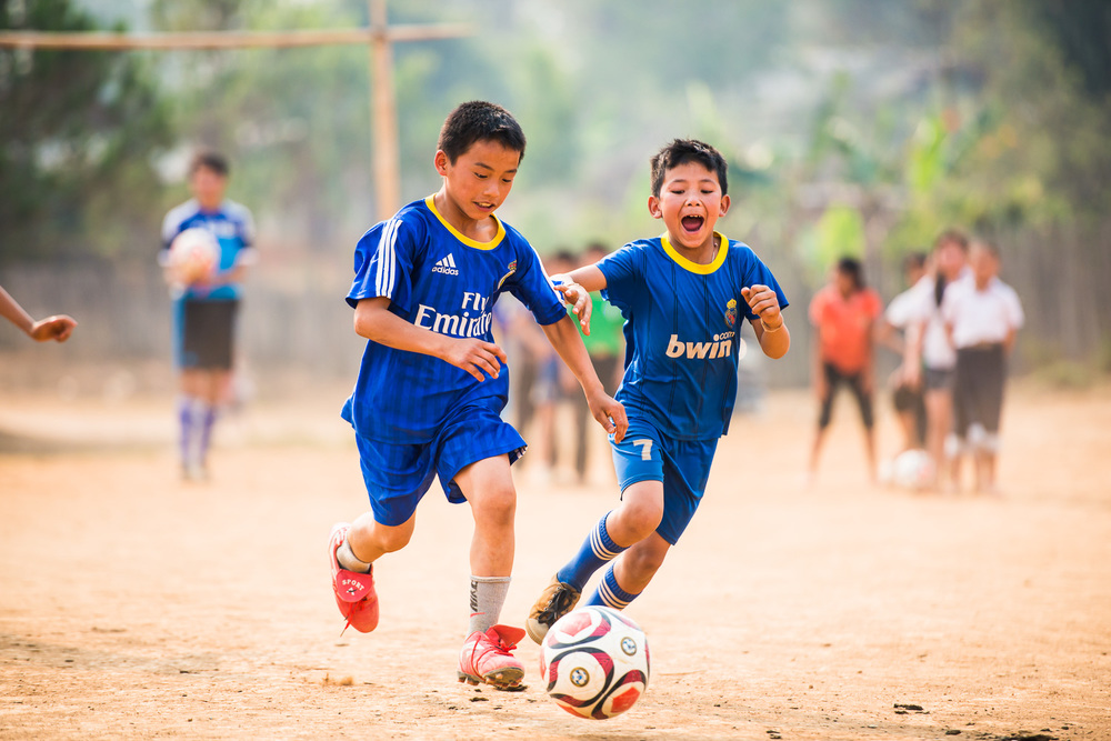 Spirit of Soccer participants, Laos, April 2015