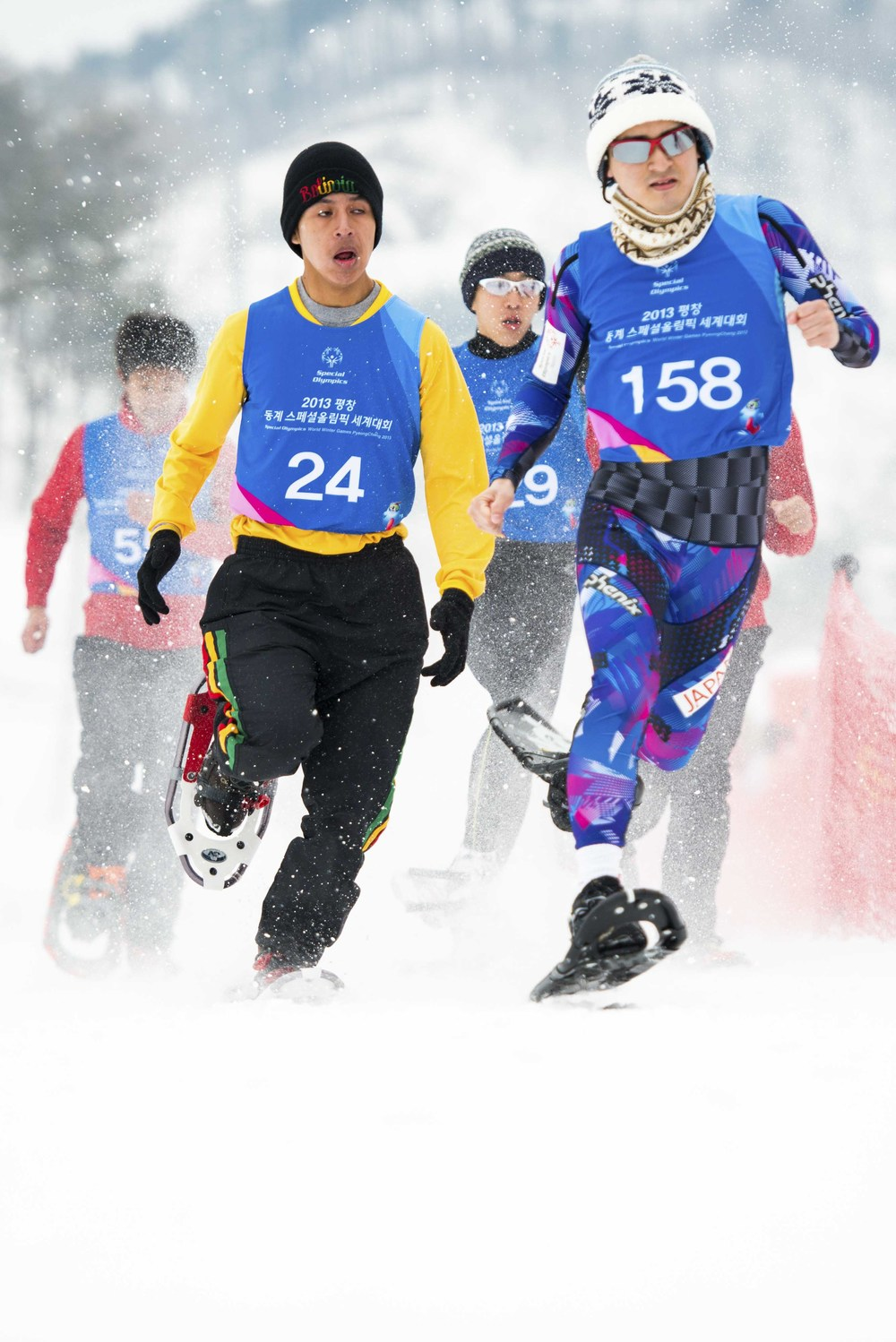 Contestants at the Special Olympic World Winter Games, Korea, February 2013