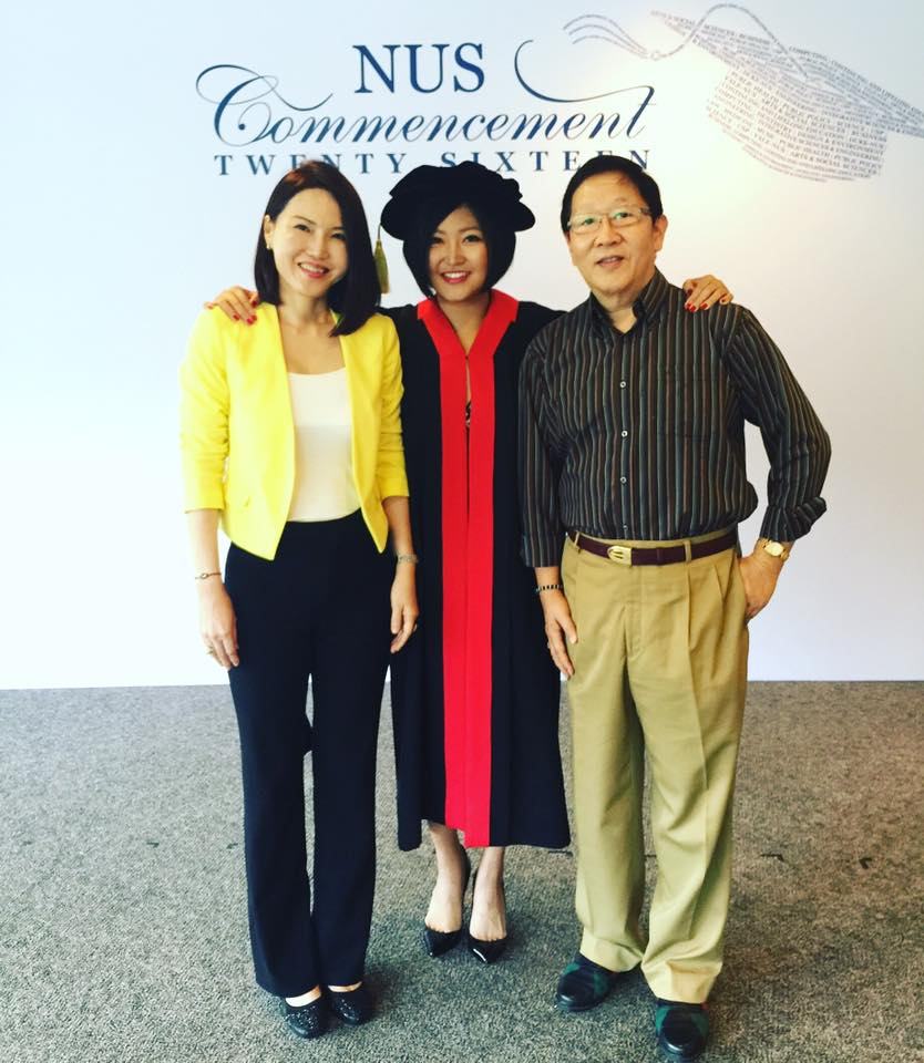 "My parents finally attended my ""graduation"" ceremony. It is their first time seeing me deliver a speech in public, and I must say that having them in the audience yesterday made it all the more meaningful."