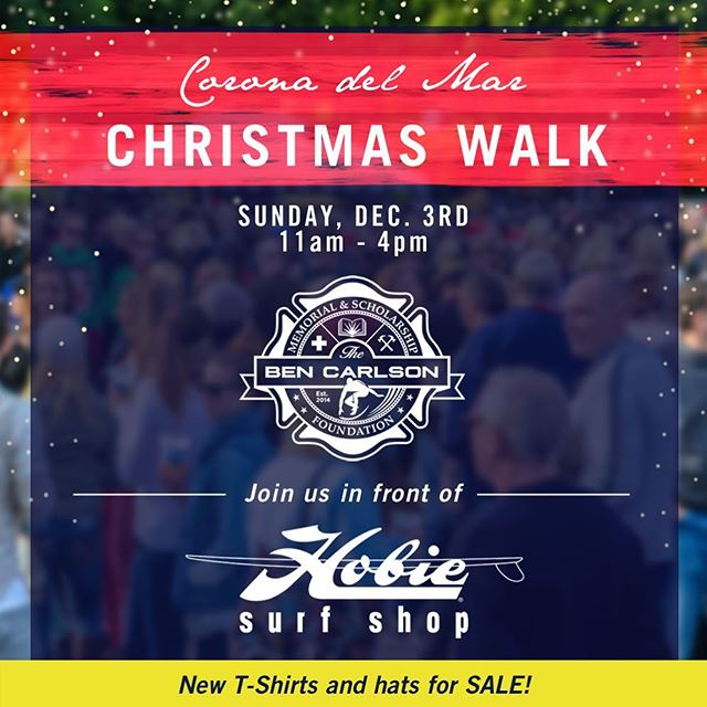 Join us tomorrow to kick off the holiday season at the 39th annual CdM Christmas Walk! We will be out front of @hobiesurfshop with brand new BCMSF apparel for sale, along with our friends from @sessionswestcoastdeli, live music and holiday cheer! Hope to see you all there! // Thanks again to our friends at Hobie and @hurley for your ongoing support and partnership. 🙏🙌🌲🎅🏼 // #bendidgo #CdmChristmasWalk #community