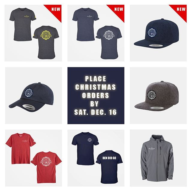 New apparel just in time! Be sure to place your final orders by Saturday 12/16 to receive by Christmas! // Link to shop is in our bio above. // Thank you all for your support! #bendidgo #MerryChristmas #gratitude