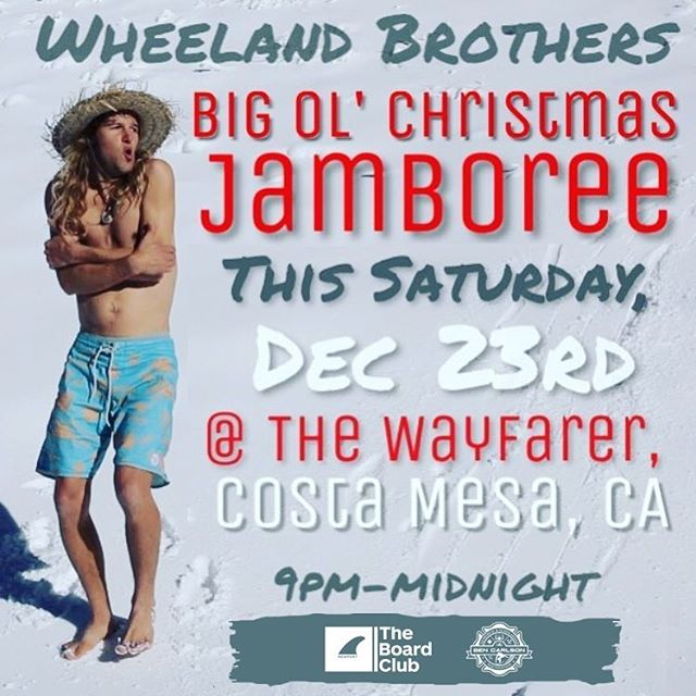 Join us tomorrow night, Sat 12/23, for the 2nd Annual @the_board_club Ugly Christmas Sweater Party at @wayfarercm !  __ Live music by the @wheelandbrothers all night with proceeds from drinks and ticket sales to benefit the BCMSF! Tickets $10 per person. Link to purchase in bio. // Ugliest sweater wins a free month membership to the Board Club! See you all there! // #bendidgo #MerryChristmas #uglysweaterparty