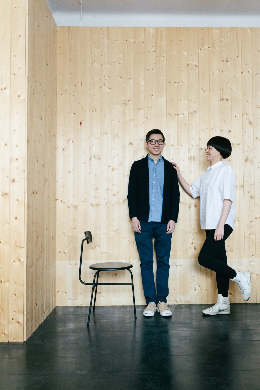 Portrait of Hung-Ming Chen and Chen-Yen Wei, founders of Afteroom design studio. Published in Residence magazine 06/14