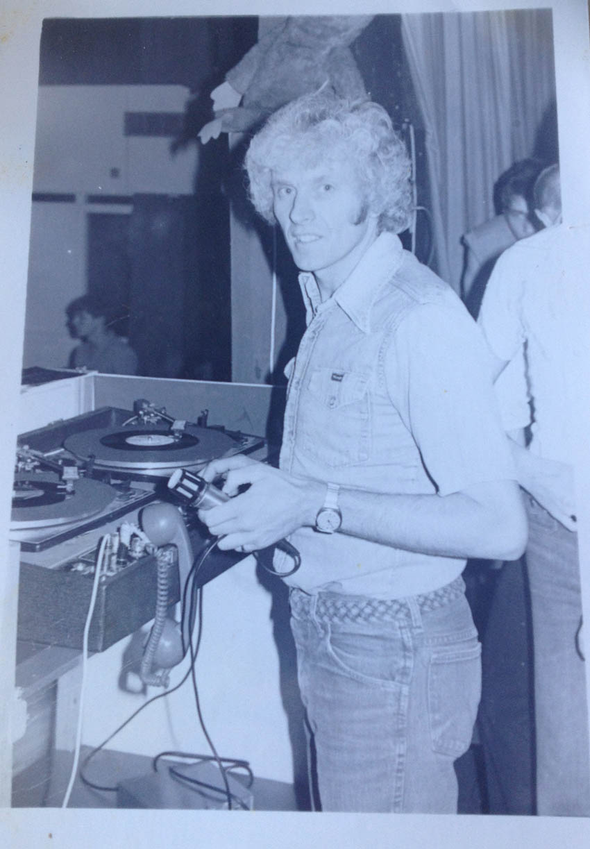 Dad in the 1970's - love the telephone headphones