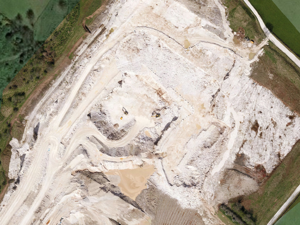 Kilwaughter Limestone Quarry 2D Orthomosaic Section