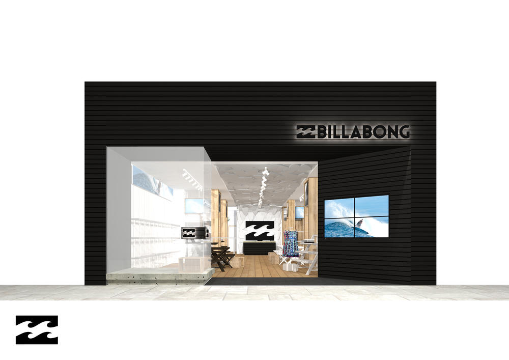 BILLABONG - shop front rendering