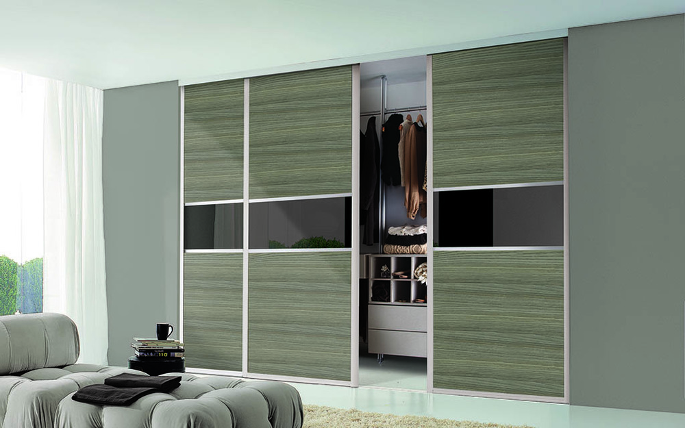 3 door sliding wardrobes with mixed panels