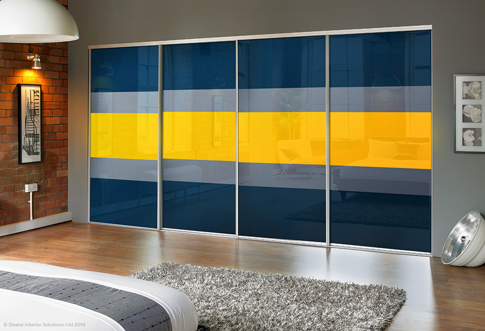 Colourful Sliding Wardrobes