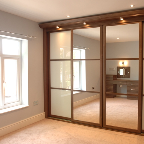 Walnut wardrobes