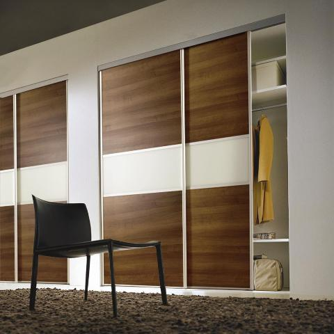 Walnut sliding door wardrobes