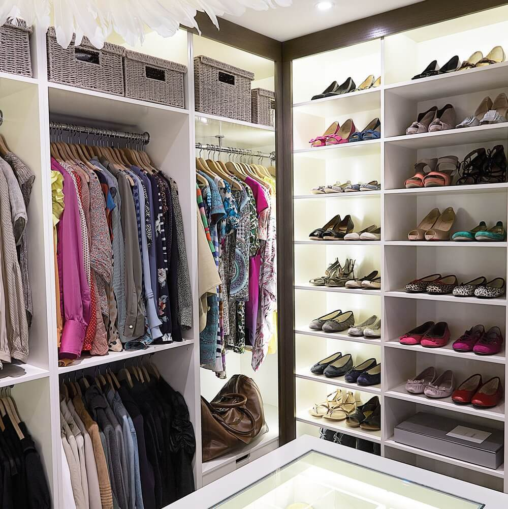 Bespoke shoe shelving and clothes storage