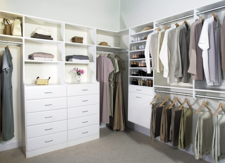 Complete clothes storage designs for walk in wardrobes