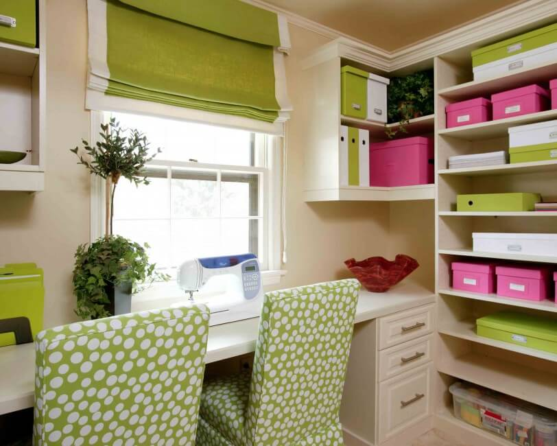 Colourful home offices