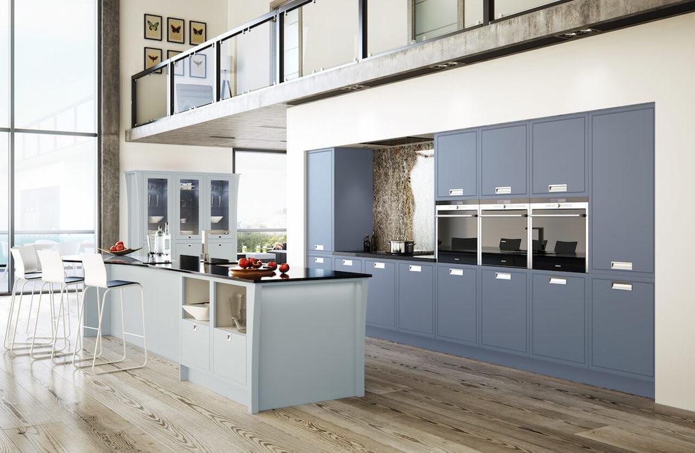 Modern Classic Dainty Blue & Priory Blue Handmade Kitchen