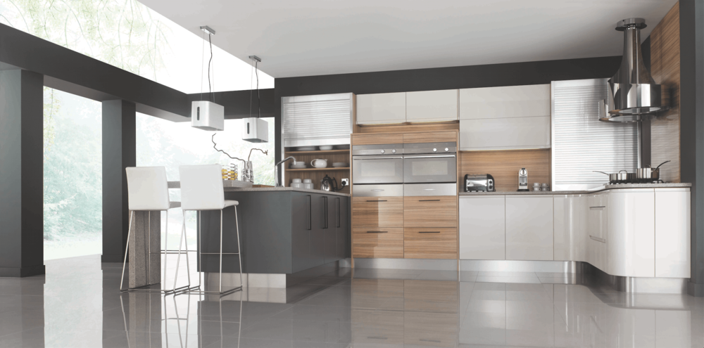 Segreto Curved Modern Kitchens