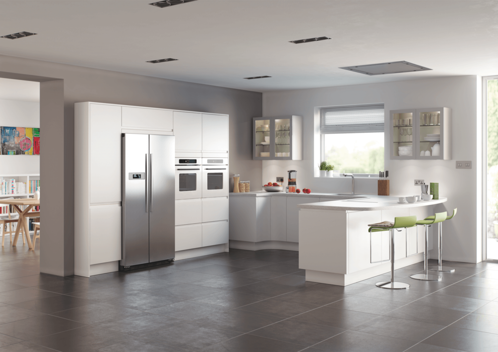 Segreto Matt White Painted Modern Kitchens