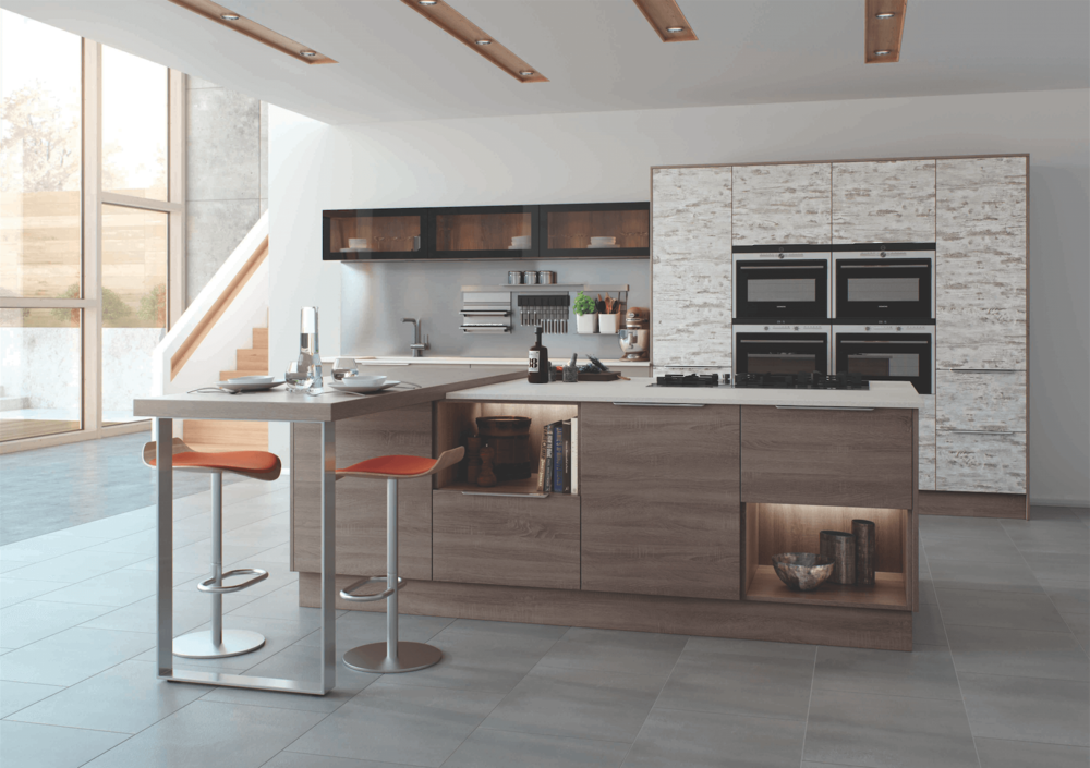 Vintage Bardolino Grey Oak Cashmere Modern Kitchen