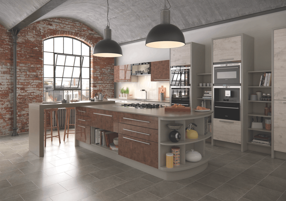 Treviso Light Oak Modern Kitchen
