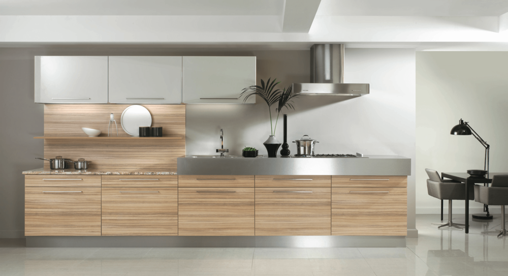 Lastra Coco Bolo & White Gloss Modern Kitchens