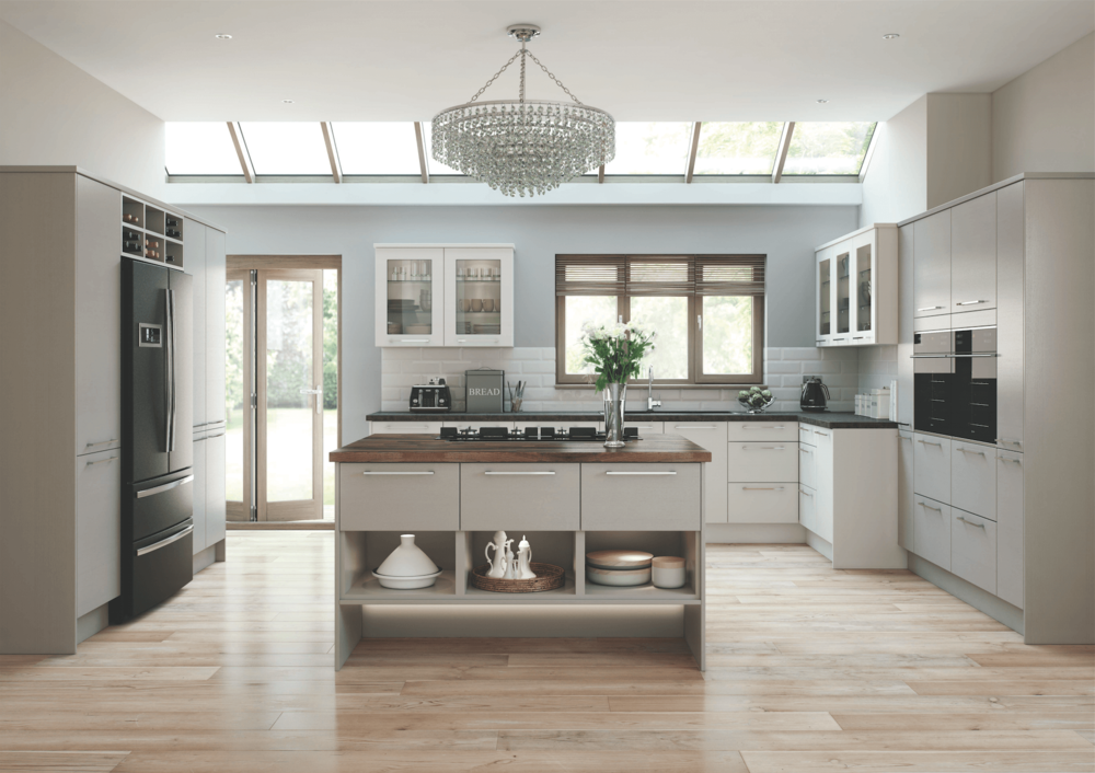 Newark Mussel and Pumice Modern Kitchen