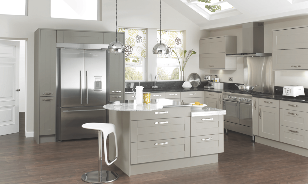 Canterbury Olive & Pebble Modern Kitchen