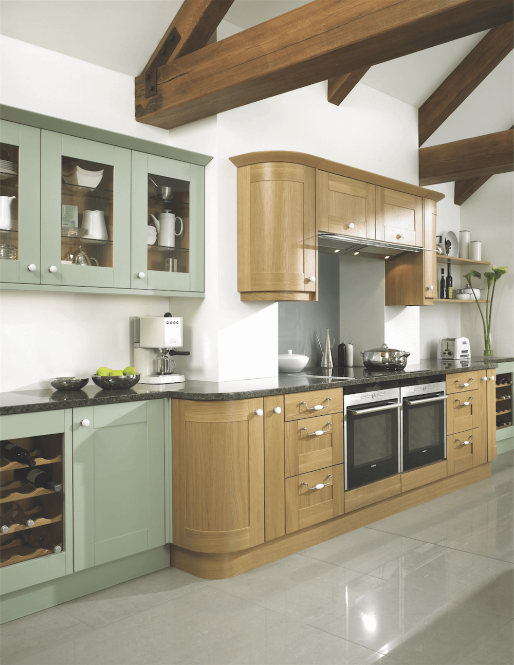 Lincoln Willow Green Lincoln Oak & Willow Green Traditional Kitchen