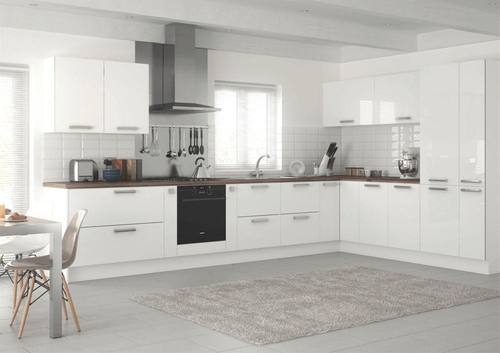Prisma White Gloss Modern Kitchen