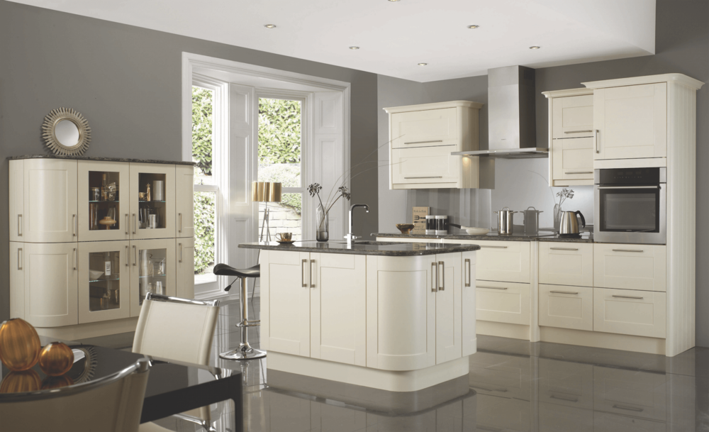 Virginia Cream Classic Kitchen with Curves