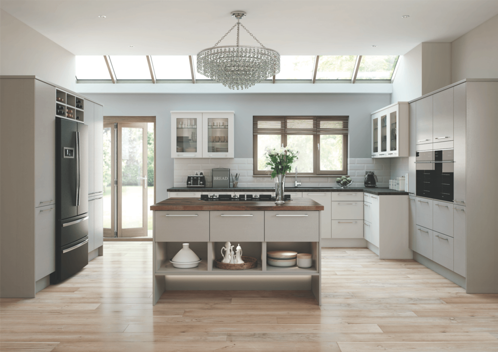Modern Handmade Kitchens with Central Island