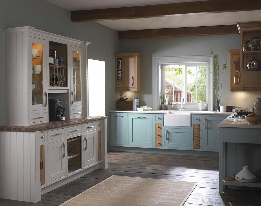 Traditional Cobalt Blue Cottage Style Kitchen