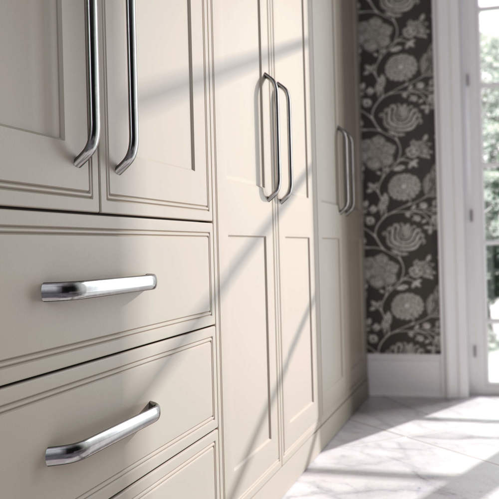 Stone grey fitted wardrobes