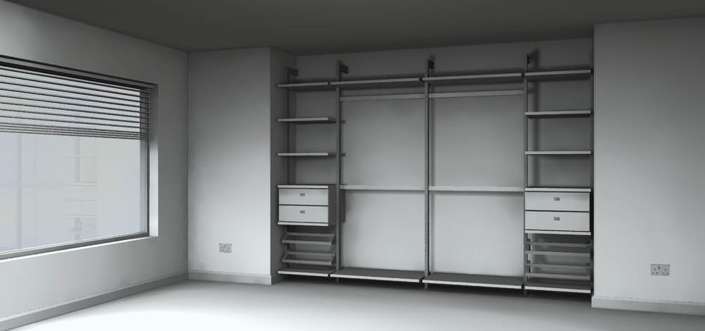 Sliding wardrobes with custom interior