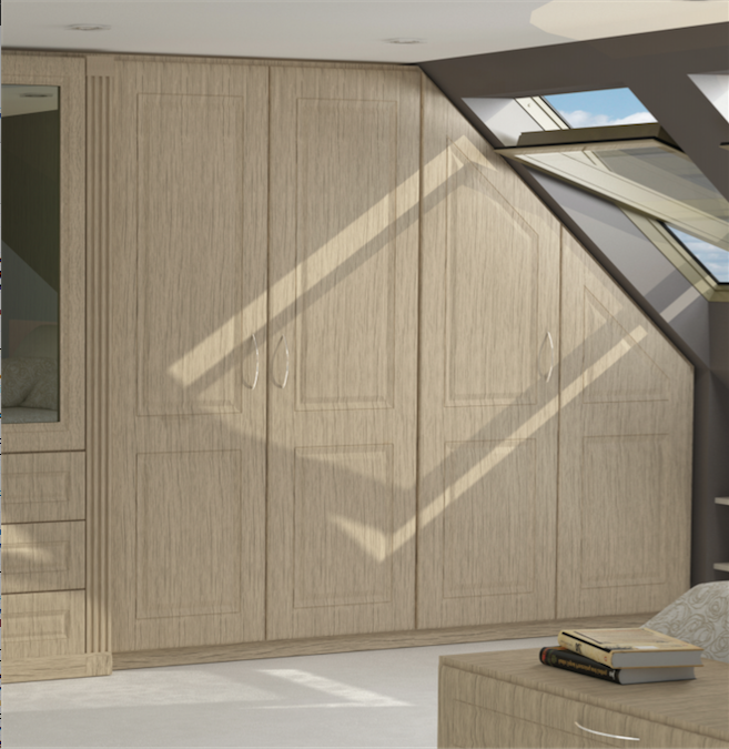 Custom fitted wardrobes into loft room