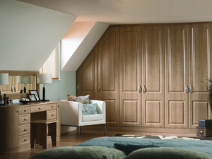 Traditional style angled wardrobes