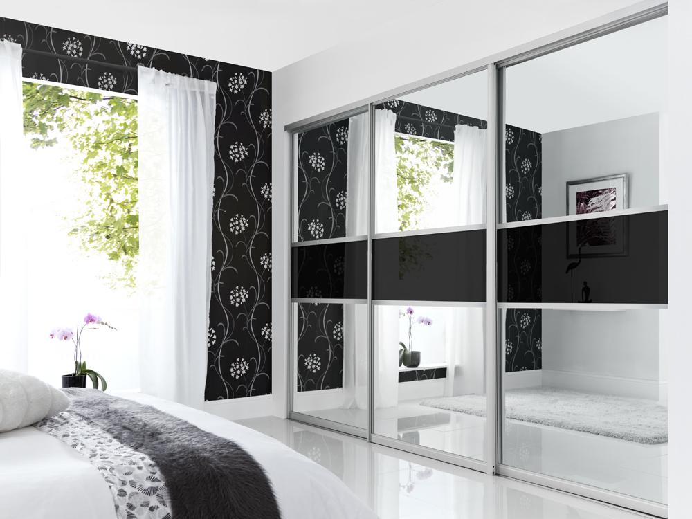 Mirrored sliding wardrobes