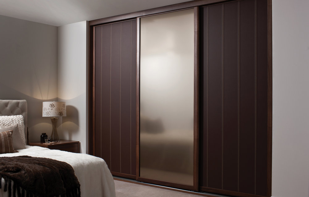 Custom leather sliding doors