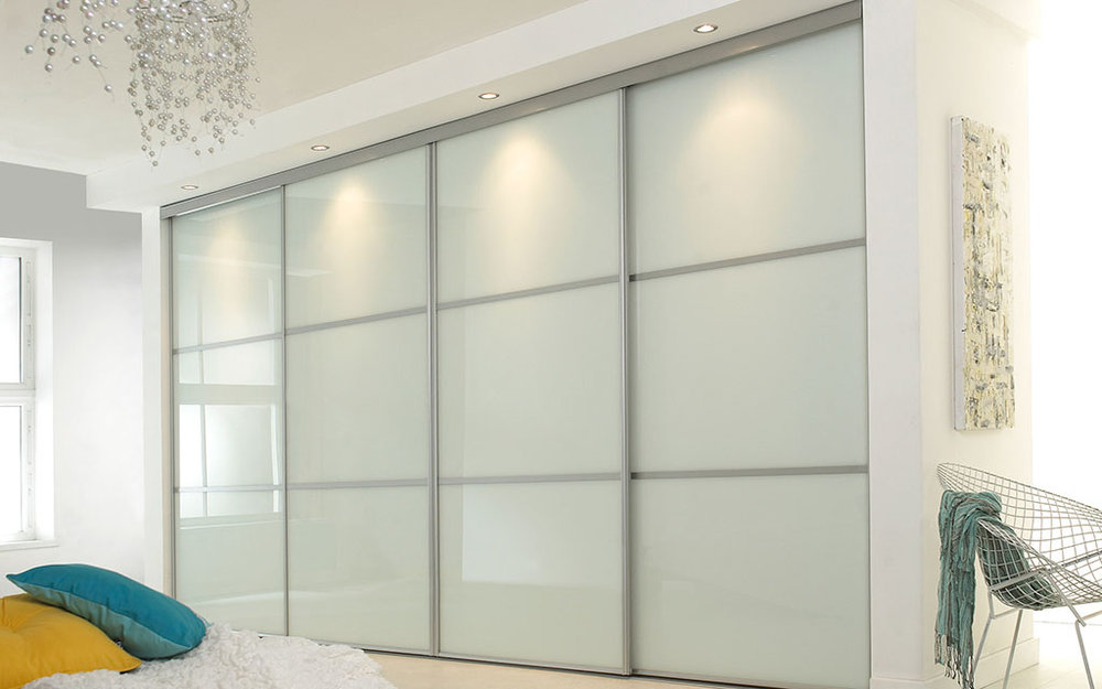 White sliding fitted furniture