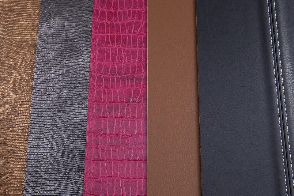 Door panel - stitched leather ,lizard, croc