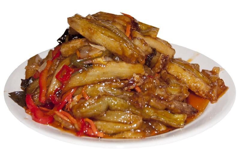 Карамелизованные баклажаны по китайски