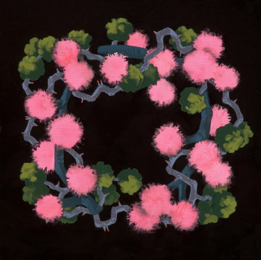 Wreath with Pompoms